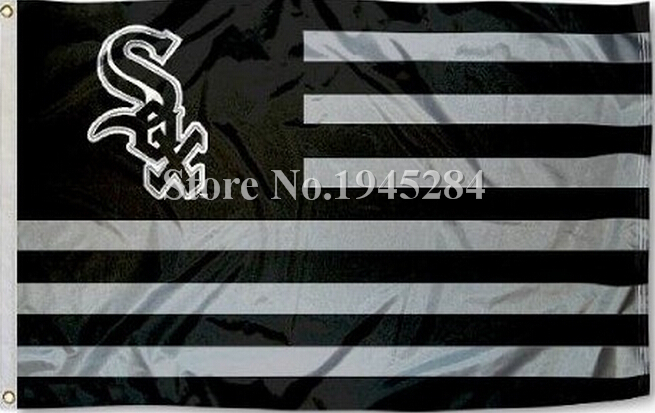 MLB Chicago White Sox US Stripes Flag New 3x5ft 90x150cm Polyester Flag Banner 7028, free shipping