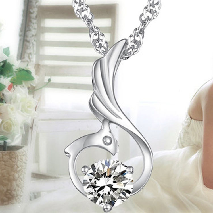 Female Korean Style Favourite Romantic Elegant Phoenix Woman Pendant Necklace Charming Jewelery