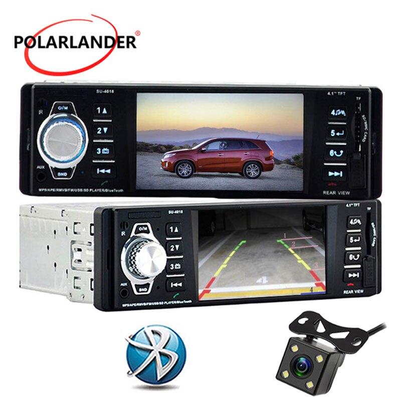 4,1 дюймов HD TFT экран автомобиля радио 12 в mp5 радио-Кассетный проигрыватель аудио MP4 MP5 плеер SD/USB/AUX в одном din Авторадио bluetooth