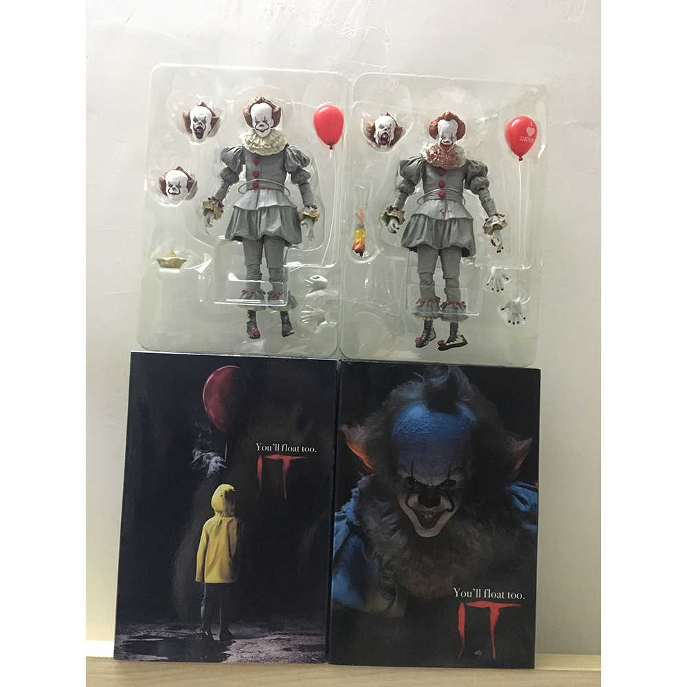 2 tipi di NECA Stephen King Si Pennywise Joker Horror PVC Action Figure Toy Doll Regalo Di Natale Di Halloween