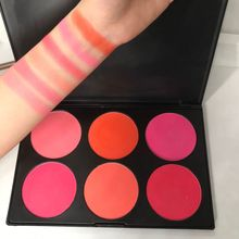 6 Colors/Set Make up Blush Palette Face Blusher Contour Powder Cosmetic Facial Foundation Makeup Pallete
