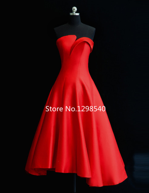 Simple Cheap A-line Satin Cocktail Dress Summer Dresses 2016 Real Photo  Sweetheart Pleated Cocktail 4e8c1c12325d