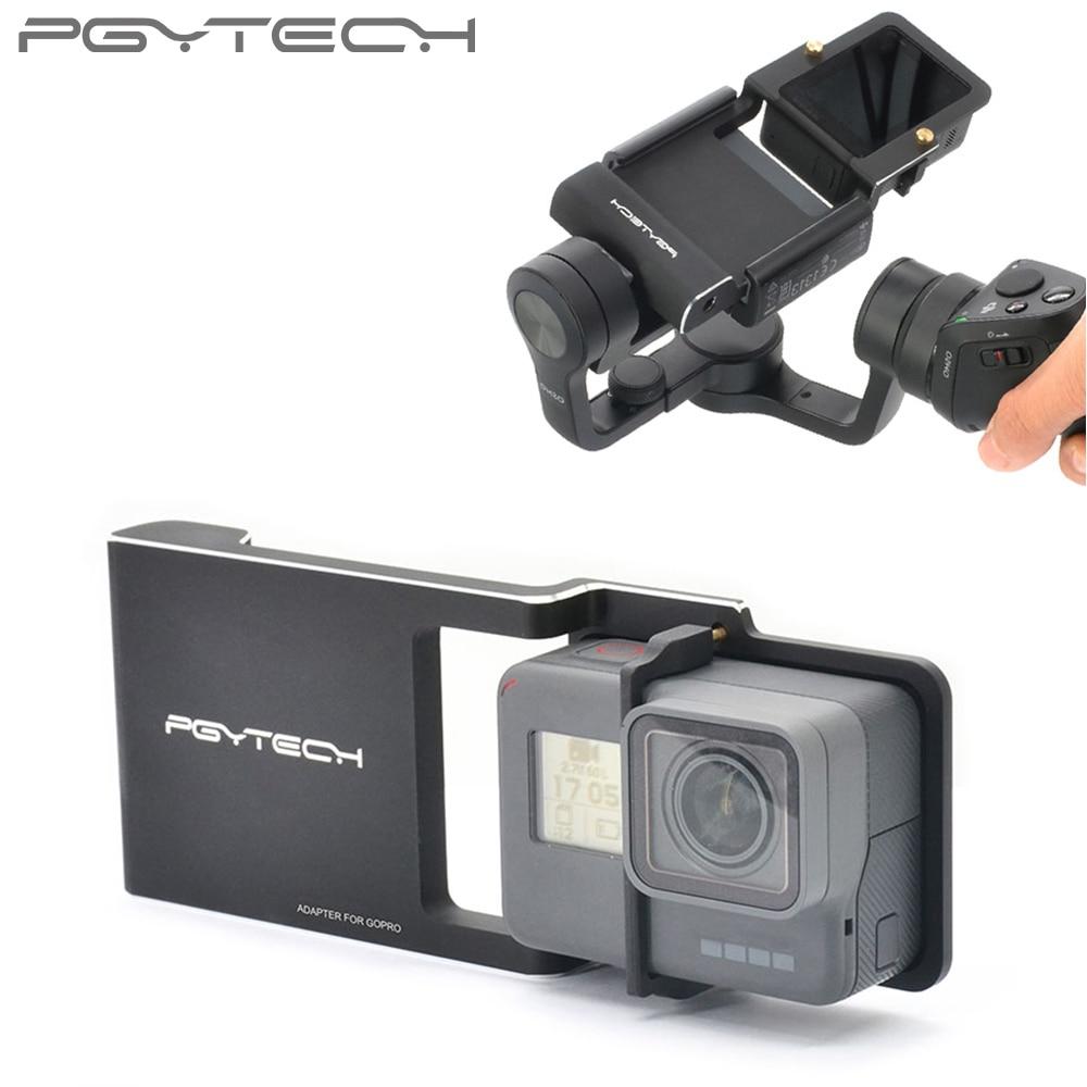 PGYTECH Adaptateur pour Gopro Hero 6 5 4 3 + xiaoyi osmo mobile zhiyun lisse Q/2/4 accessoire commutateur montage plaque Caméra pièces
