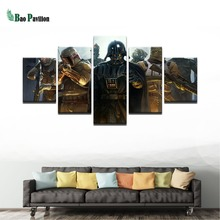 Modern Printing Type Poster Canvas Painting HD Wall Art Pictures Modular Artwork Vintage 5 Panel Movie Star Wars Home Decor