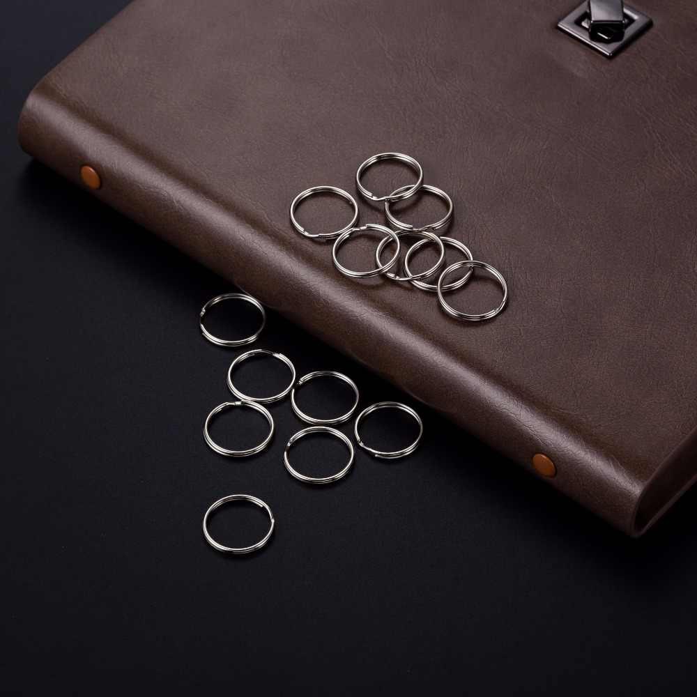 نيكل عالي الجودة مطلي 1.3x20 مللي متر حلقة مفاتيح معدنية سلسلة مفاتيح سحرية معلقة سلسلة حلية مفتاح سلسلة حلقة اكسسوارات 10 قطعة
