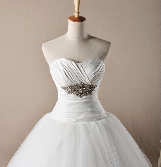2b917c0adb US $159.0 |Wedding dresses Princess tube tops glitter crystal lace up  luxurious floor length quality bridal gown wholesale, Free shipping!-in  Wedding ...
