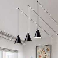 Modern line pendant lgihts LED geometric pendant lamps Scandinavian creative art suspension wall hanglamps light fixtures