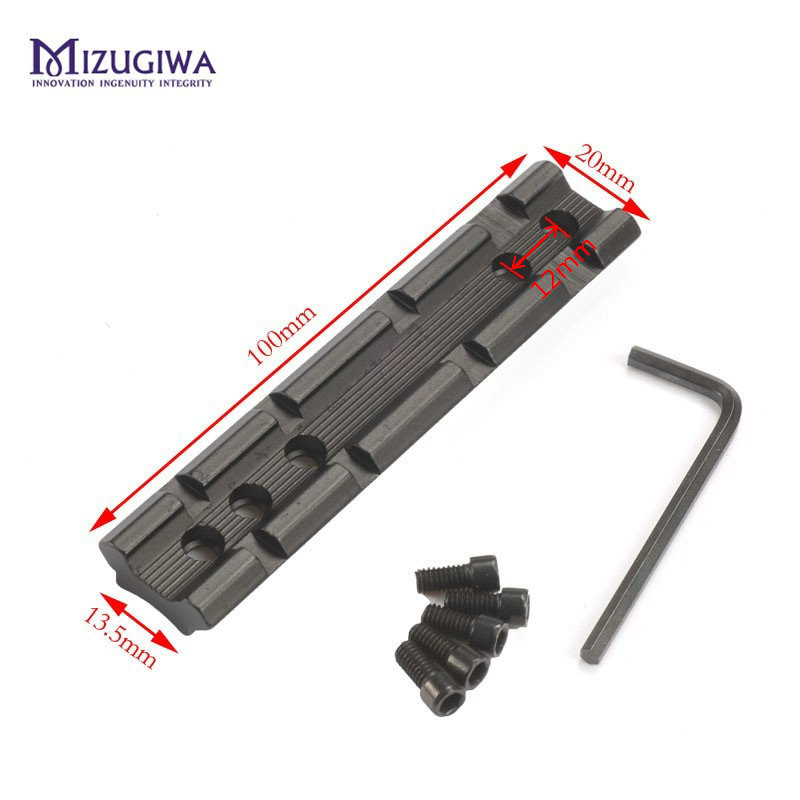 MIZUGIWA Tactical Screws Curve 20mm Weaver Rail Mount Converter Base Picatinny For Install Rifle Scope Flashlight