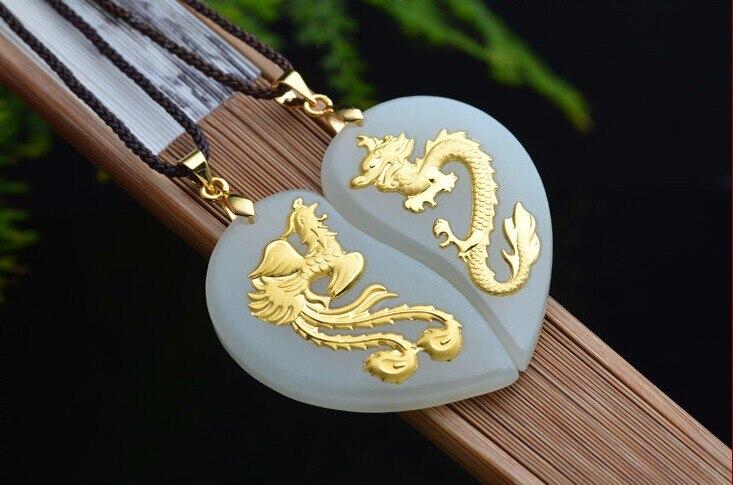 Pendentif Dragon Phoenix en or jaune 2017 et 24 K