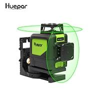 Лазерный уровень на 8 линий, самовыравнивающийся трехмерный лазерный уровень 360 градусов, модель 902CG с зеленым лучом, мощный лазерный луч Huepar - Цвет: Green lines