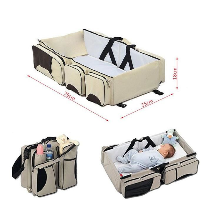 Newborn Baby Portable Travel Foldable Baby Bed Infant Changing Diapers Baby Cot Mummy Pack Bag Baby Crib Multi-function FR HWC
