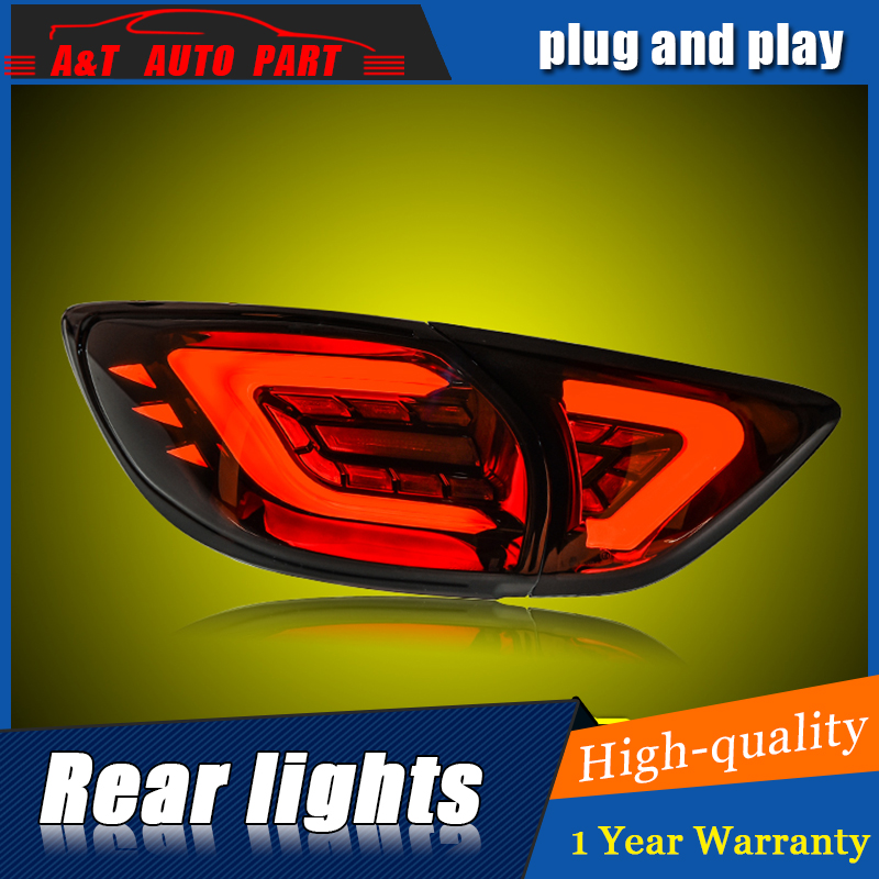 Car Styling LED Tail Lamp for Mazda CX-5 Tail Lights 2013-2016 for CX-5 Rear Light DRL+Turn Signal+Brake+Reverse LED light staerk 2017 costume female conservative small fresh sexy gathered thin bikini sets of swimming suits