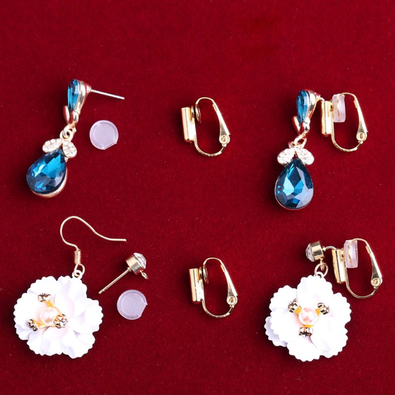 1 Pair DIY Clip-on Earring Converters Jewelry Findings for None Pierced Ears