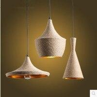 Modern creative design Resin Monkey Loft Vintage Hemp Rope Pendant Light for Home Lighting Bar Cafe Retro Hanging Pendant lamp
