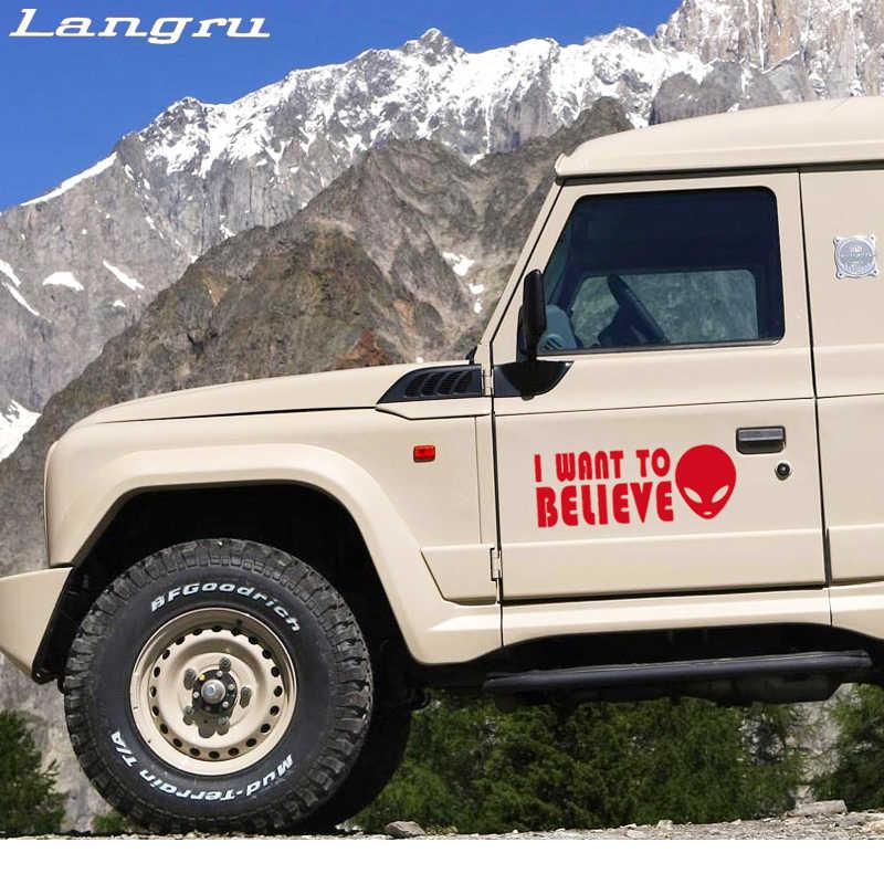 Langru車stying私は信じたいエイリアン車のステッカービニールデカール高品質ステッカーjdm