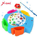Crianças de pesca conjunto de brinquedos as crianças presentes brinquedos educativos musical jogo de pesca elétrica rotativa não magnético brinquedos esportes ao ar livre