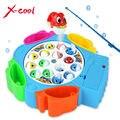 Los niños juguetes de pesca establece los niños juguetes educativos regalos eléctrica giratoria juego de pesca musical no magnética deportes al aire libre juguetes