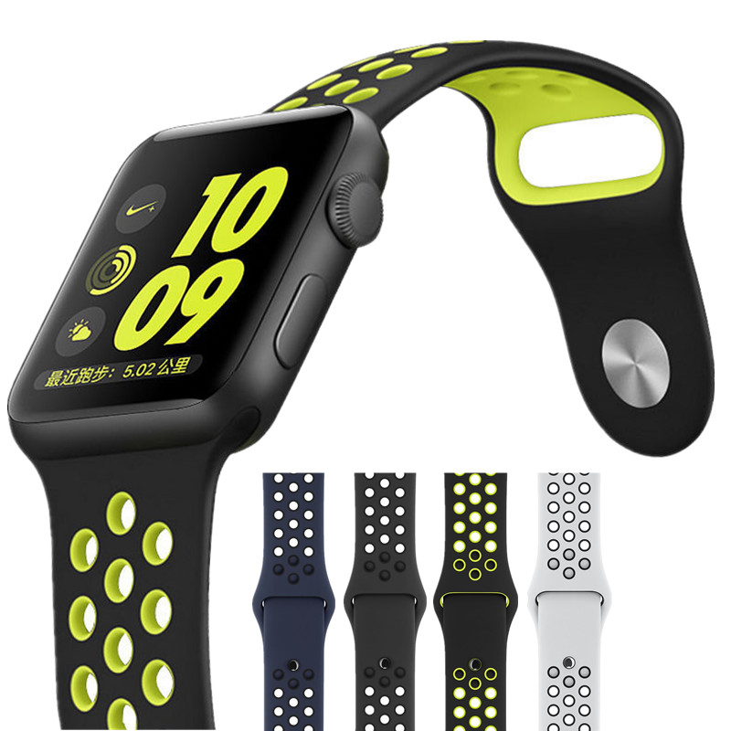 ASHEI Watchband for Apple Watch Strap Series 3 42mm Sport Soft Silicone Replacement Wriststrap for iWatch Series 2 1 Band 38mm silicone women men watch band watchband replacement strap for suunto elementum terra series watchbands