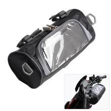 New Motorcycle Front Handlebar Fork Storage Bag Container Fabric Waterproof Moto Zipper Package Drop Shipping/Wholesale(China)
