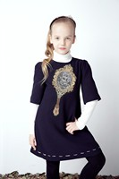 Toddler Girl Dresses Kids Clothes 2016 Brand Winter Baby Girls Dress Mirror Pattern Princess Dress