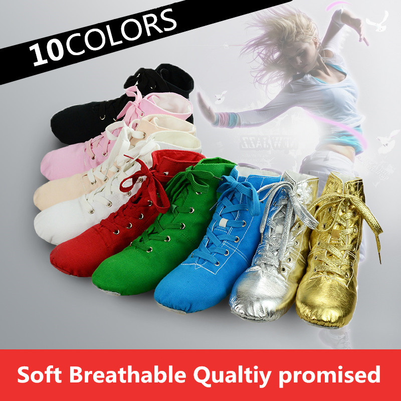 Top Modern Canvas Jazz Ballet Dance Shoes Split Heels Soft Sole Multicolor Canvas Jazz Shoes For Men Women