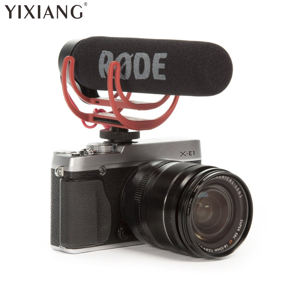 YIXIANG For Rode Videomic VidMic GO On Camera Shoe Mount Rycote Lyre Onboard Microphone-New dslr cemara microphone rode videomic go video camera microphone for canon nikon sony microphone rode go rycote video mic