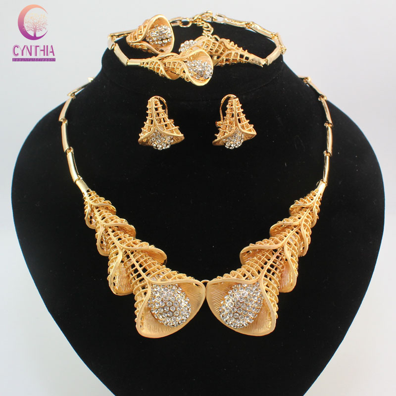 Fashion Dubai Jewelry Sets Bridal Gift Nigerian Wedding Accessories ...