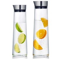 New High Quality 1000ml 1500ml Thickened Glass Pitcher With Stainless Steel Lid Carafe For Hot Cold