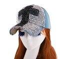 Caliente al por mayor nuevo bling rhinestone más popular muchacha de las mujeres de la novedad en forma de cruz denim gorra de béisbol del snapback del sombrero para las mujeres niñas