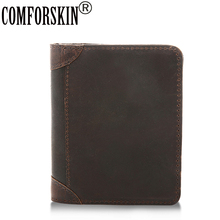 цены Short Men Wallets 100% Guaranteed Premium Cowhide Leather 2017 New Arrivals Vintage Folio Men Purses European and American Style