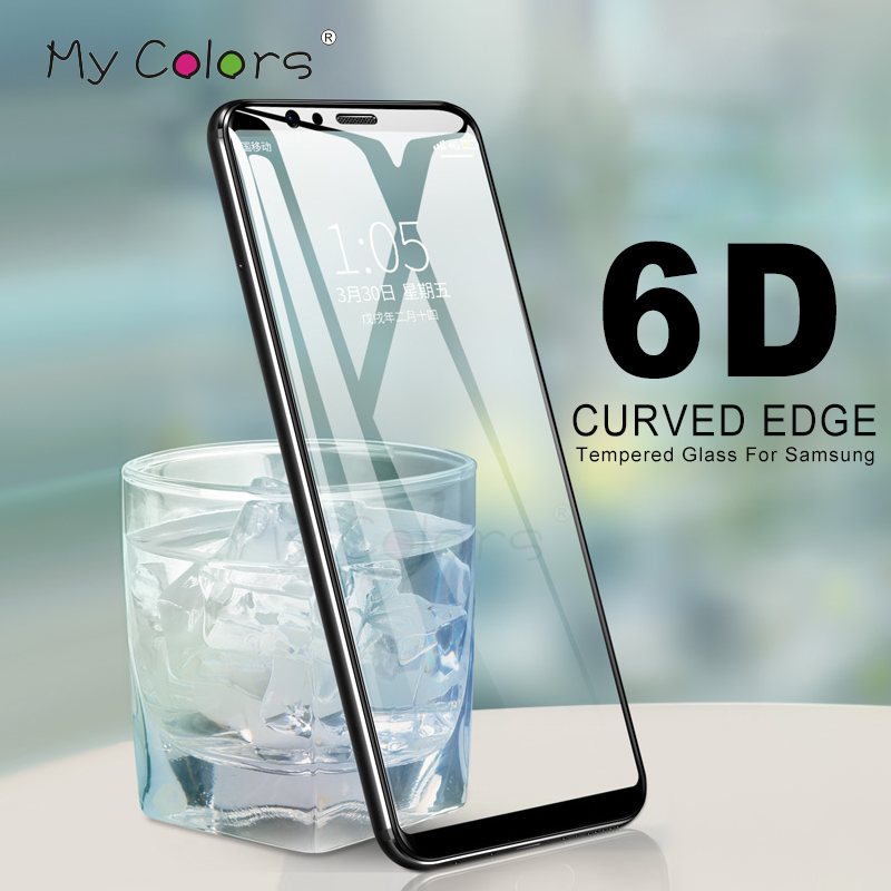 6D Curved Full Cover Protective Glass For Samsung Galaxy s8 Screen Protector Samsung Galaxy S6 <font><b>S7</b></font> <font><b>Edge</b></font> S9 S8 Plus Tempered glass