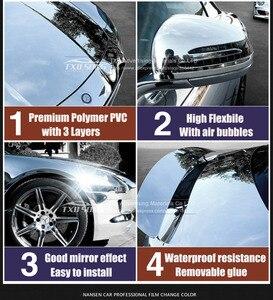 Image 3 - 7 Sizes High stretchable mirror silver Chrome Mirror flexible Vinyl Wrap Sheet Roll Film Car Sticker Decal Sheet