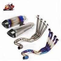 Мотоцикл Полный выхлопных газов Системы скольжения на Honda CBR650F глушитель труб