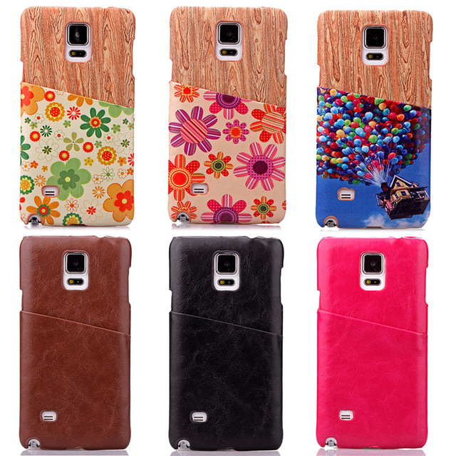 Painted business card phone case for samsung note 3 note 4 note 5 card holder sticker