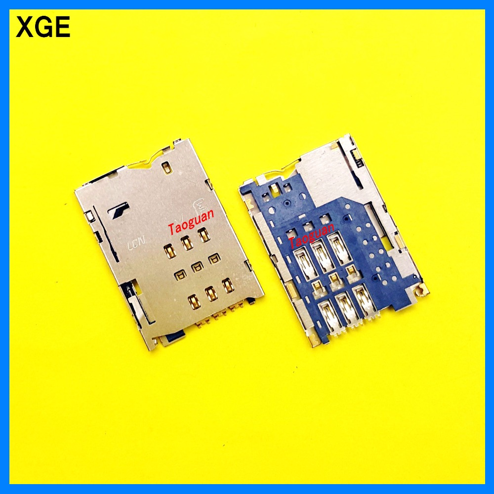 2pcs/lot XGE New SIM card Socket Holder Tray Slot for Lenovo S6000 S6000H Le Pad lepad high quality