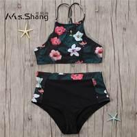 2017 Sexy High Neck Bikini Women Swimwear Push Up Swimsuit Biquini Beach Wear High Waist Brazilian