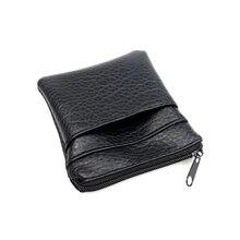 2018 Новая мода Pu дешевые кожаные портмоне Для женщин Для мужчин Малый Мини короткие бумажник сумки изменить немного ключ держатель для карт черный бизнес