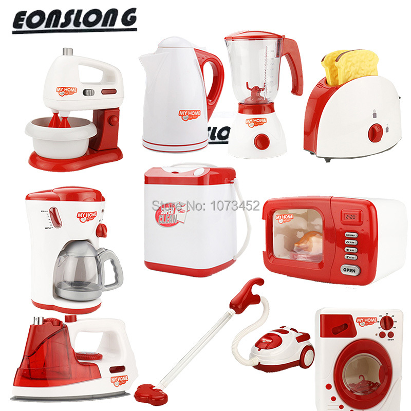 Simulation pretend play set coffee machine eggbeater macihe juice machine microwave oven vocuum cleaner toys brinquedo