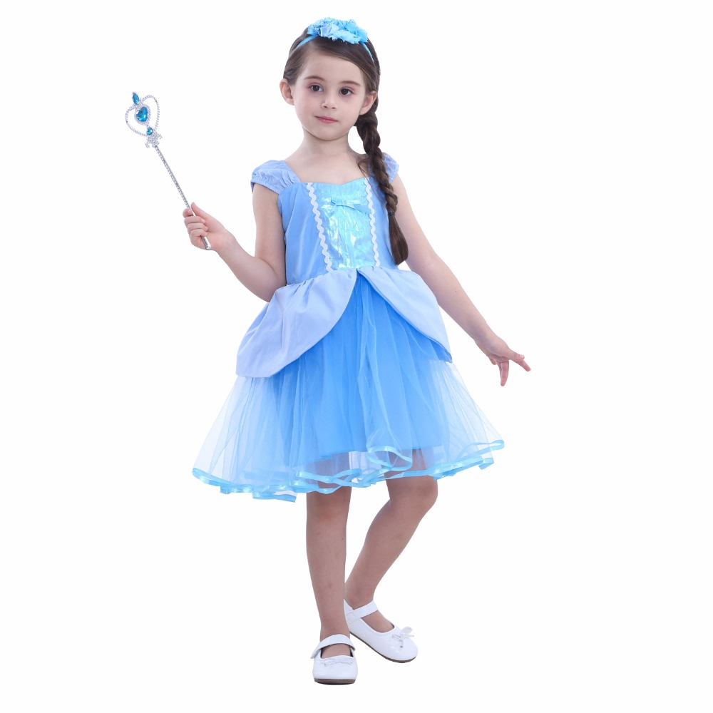 2018 New Arrival Dresses Girls Princess Cosplay Costume Kid's Party Dress  Girls Snow White Halloween Christmas Costumes