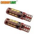 CNSUNNYLIGHT Luces Del Coche T10 168 192 W5W 4014 SMD 27 LED CANBUS NO Error de Coches Aparcamiento Bombilla Marcador