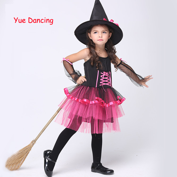 Halloween/ Christmas Cosplay Dress Girls Costumes Kids Party Dresses Children Fancy Clothes Witch Performance Outfits For Sale