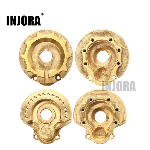 INJORA 2 pièces TRX4 laiton contrepoids poids poids portail boîtier dentraînement pour 1:10 RC chenille Traxxas TRX 4 TRX 6
