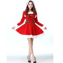 4c5be29d04e GYHYD Winter 2018 Women Snowman Sexy Lolita Dresses Red Velvet Fur Cosplay  Costumes