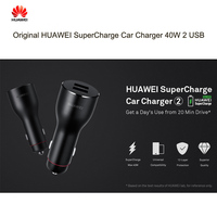 40W 5A Cable Original HUAWEI SuperCharge Car Charger 40W 2 USB 10V4A 40W 5V4A 20W 9V2A 18W 5V2A 10W