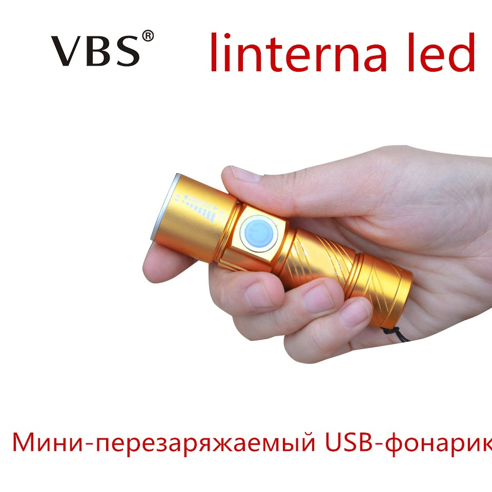 Mini LED Flashlight 5W Zoomable CREE 1000LM Waterproof Lanterna LED Torch  USB led Rechargeable lampe de poche Linterna led Bulb