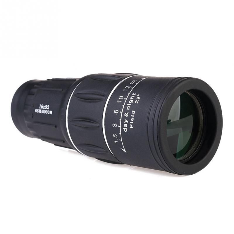 16X52 HD nešiojamas dvigubo fokusavimo priartinimas Monokuliarus - Kempingai ir žygiai pėsčiomis - Nuotrauka 4