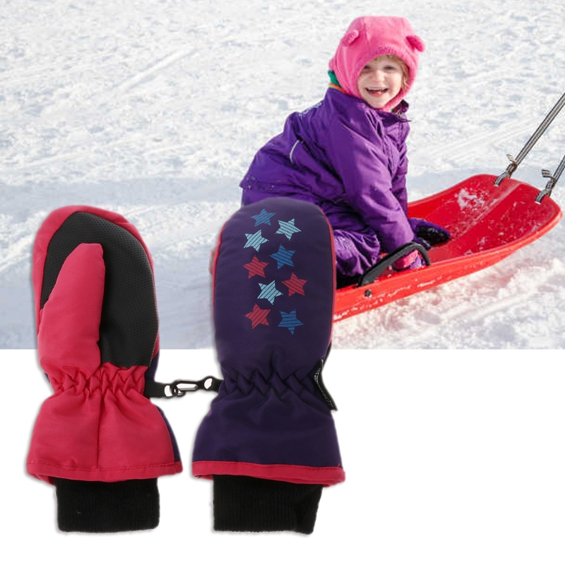 Rapture 1 Pair Baby Winter Waterproof Mittens Boy Girl Kids Children Thickening Warm Ski Gloves New Smoothing Circulation And Stopping Pains Gloves & Mittens