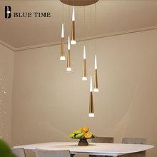 Modern Led Pendant Light FOR Dining room Hotel Hall living room Stair lights  Pendant Lamp Hanging Lamp Gold Home Light Fixtures