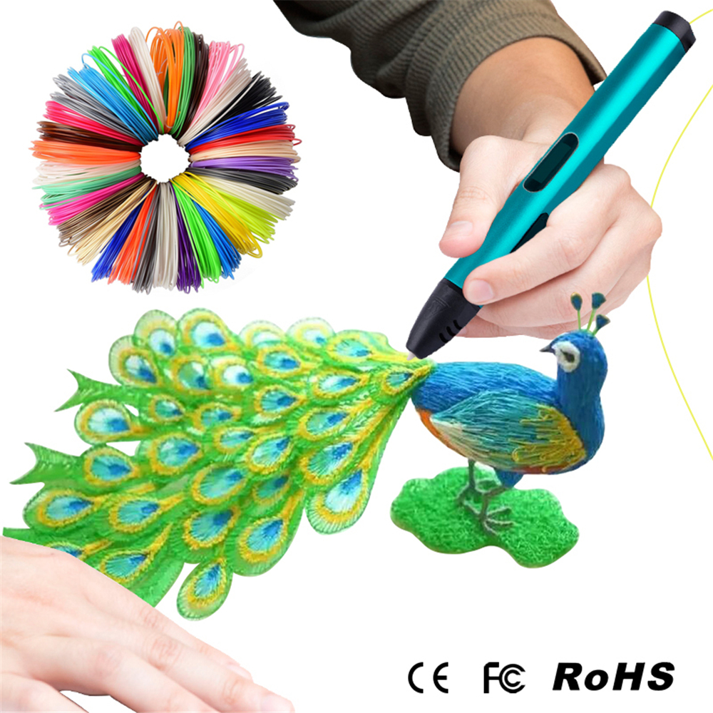 Newest USB 3D Pen Kids Drawing Pen Child s Birthday Gift 100M 200M ABS Filament Best