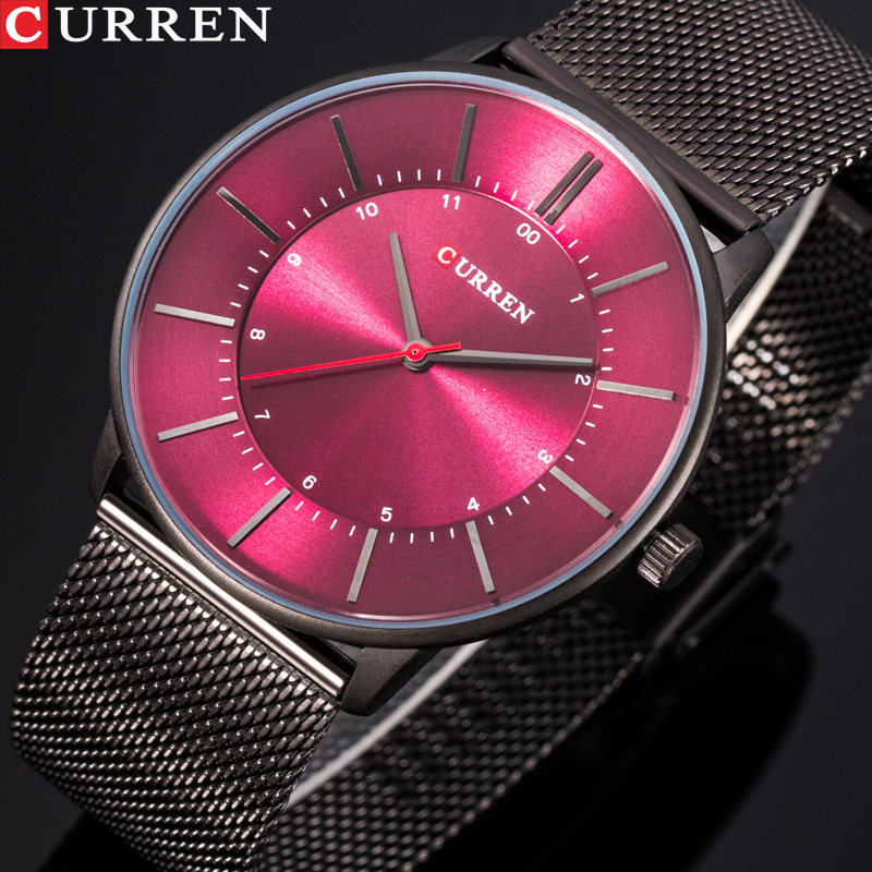CURREN Luxury Casual Men Watches Quartz Male Ultra-thin Wristwatches Full Steel Waterproof Clock Relogio Masculino Montre Homme